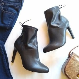 Zara • black sexy  stiletto heeled ankle boots